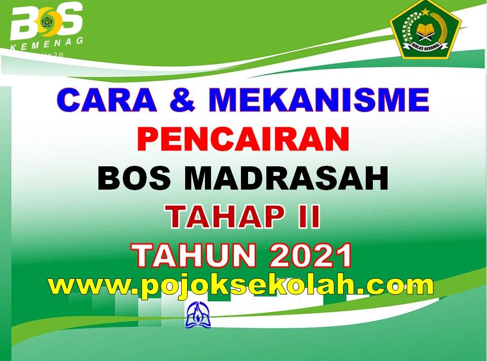 Pencairan Dana BOS Madrasah Tahap 2 Tahun 2021
