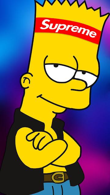 Bart Simpson Supreme iPhone Wallpaper