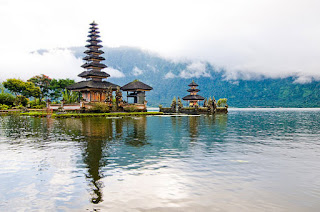 The uniqueness of Lake Beratan Bedugul is the existence of temple called Pura Ulun Danu