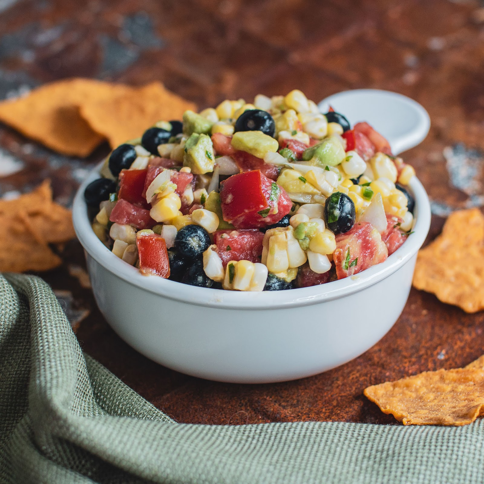Spicy, chunky blueberry, corn and avocado salsa  | Local Food Rocks