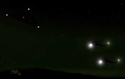 Ufos Lights In The Texas Sky Helicopters Chase Triangle