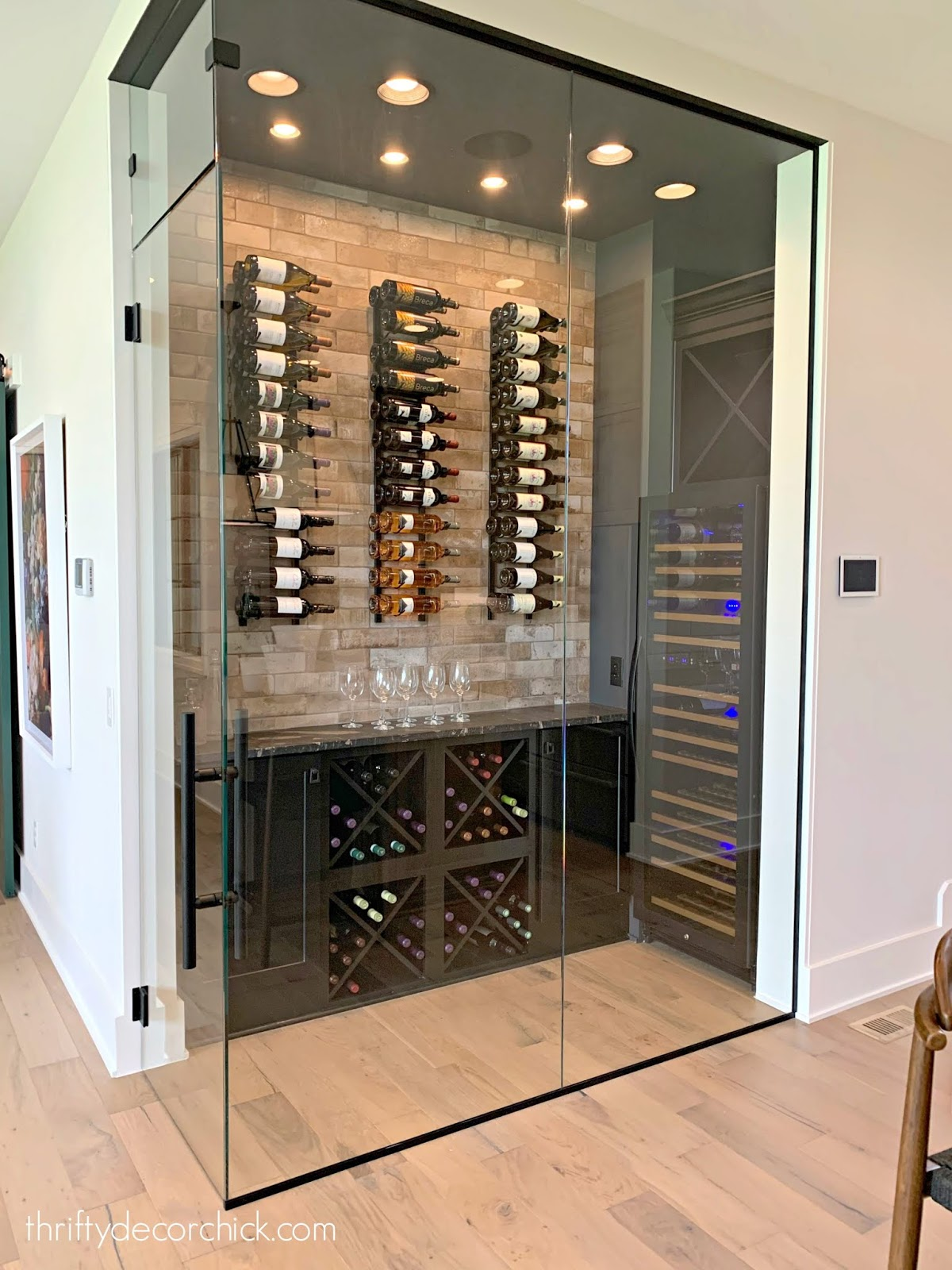 Built in wine cellar kitchen
