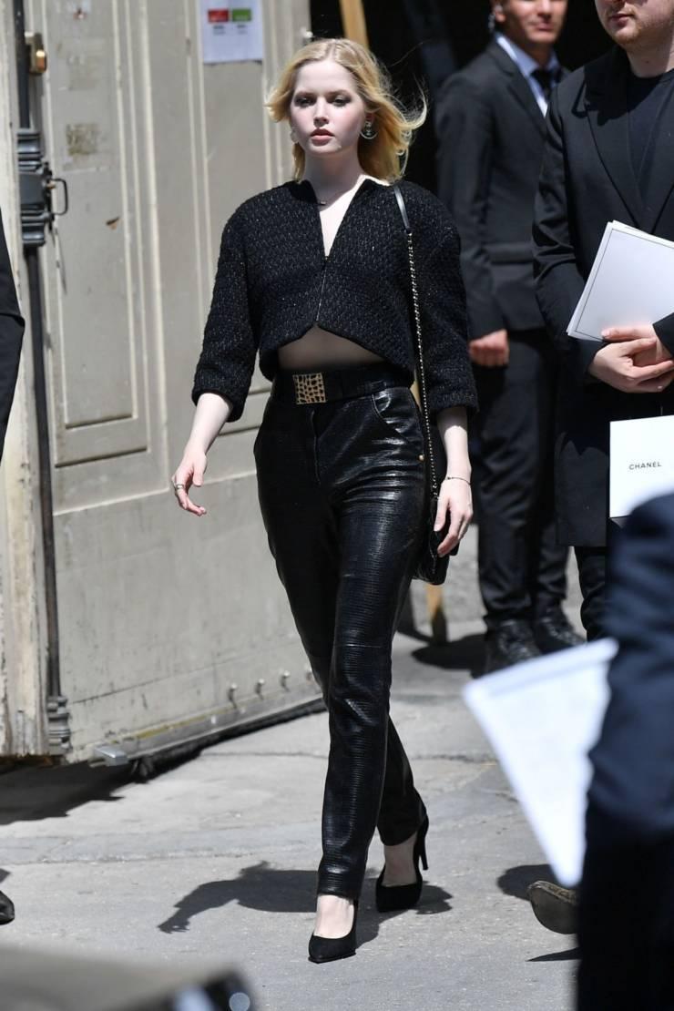 English Model Ellie Bamber at Paris Fashion Week