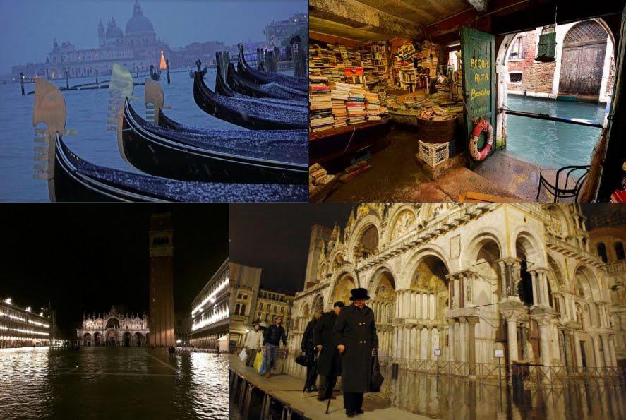 Acqua alta da record a Venezia, non succedeva dal 1936.