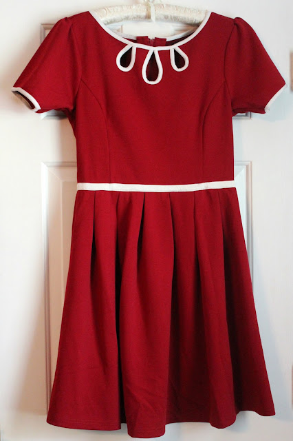 Red Dress with White Trim