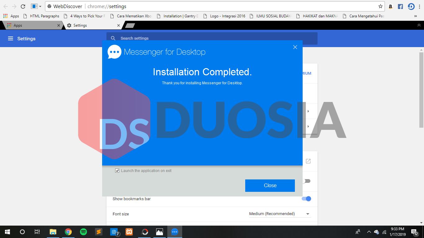 download messenger dengan mudah