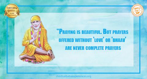 Complete Prayers - Sai Baba Sitting Posture Painting Image