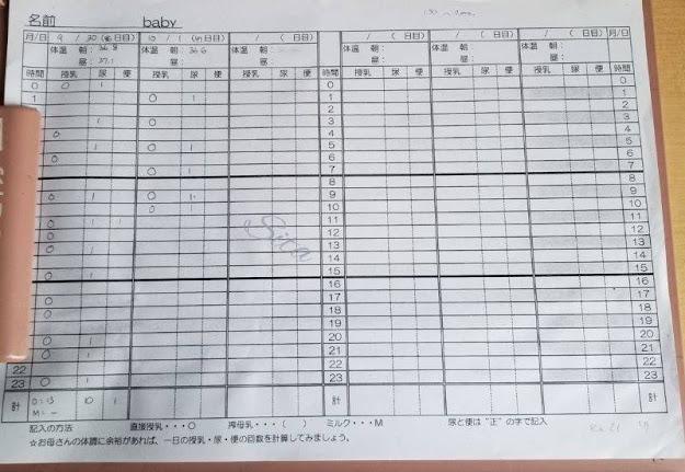 Kehidupan di Jepang, Pemeriksaan Bayi Usia Dua Minggu