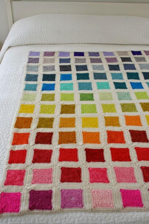 Mes favoris tricot crochet mod le plaid au crochet gratuit bear s rainbow blanket - Modele plaid tricot gratuit ...