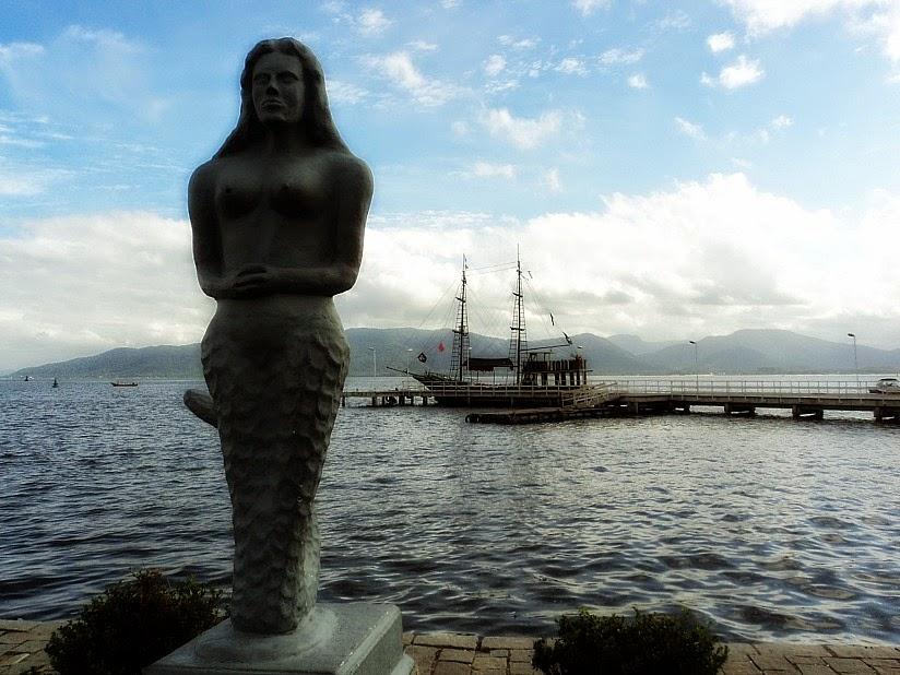 Trapiche no Museu Nacional do Mar, em São Francisco do Sul