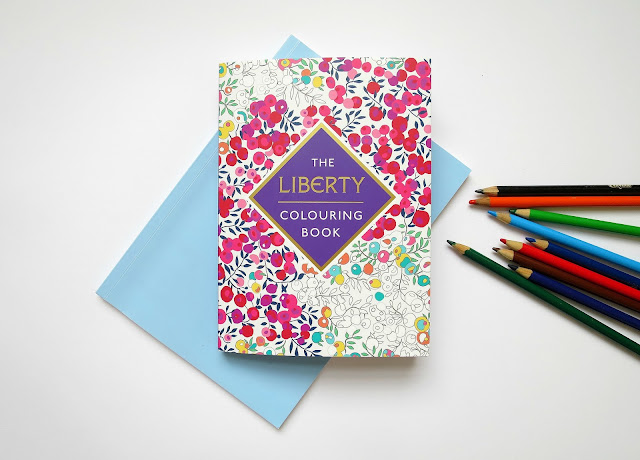 The Liberty London Colouring Book Adult Mindfulness Floral Paisley Patterns