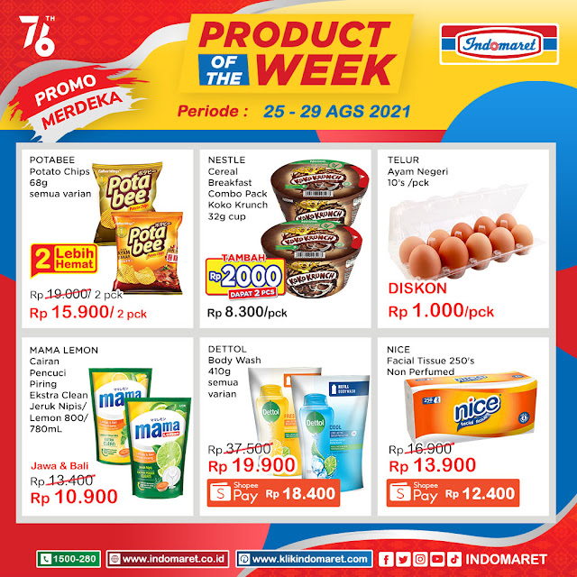 Katalog Product Of The Week Indomaret Periode 25 - 29 Agustus 2021