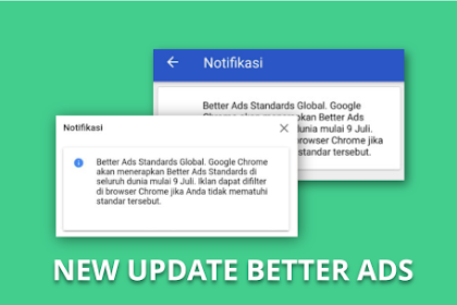 Notifikasi Better Ads Standards Global Disemua Akun Adsense