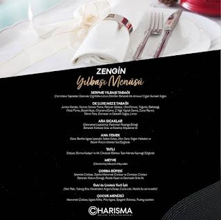 Charisma Deluxe Hotel Kuşadası Yılbaşı Programı 2020 Menüsü