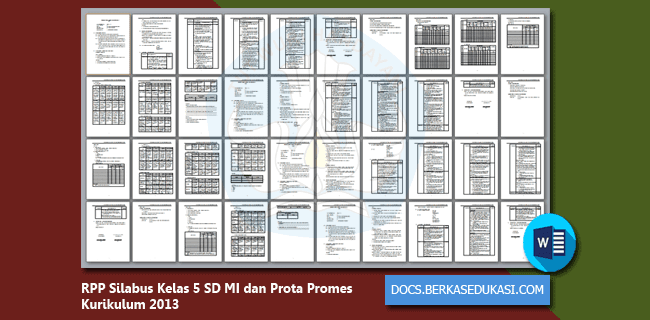 RPP Silabus Kelas 5 SD MI dan Prota Promes Kurikulum 2013 Revisi 2019-2020