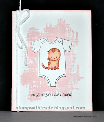 Made for You, Stampin' Up!, Stamp with Trude, Baby card, girl, Tuesday Tutorial