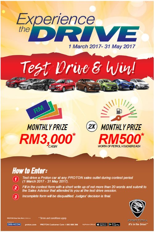 Proton Experience The Drive Contest Test Drive  Win Up To Rm