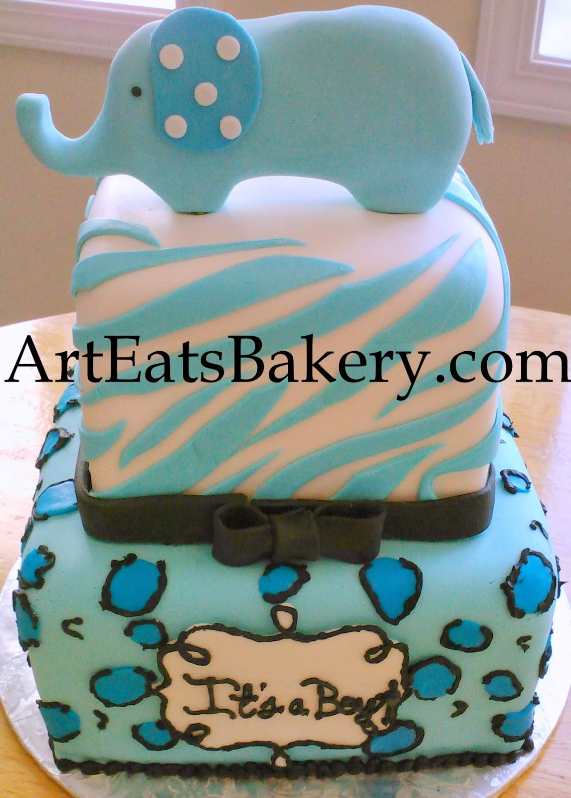 Baby Shower Cakes Blue And Green