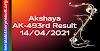 Akshaya AK 493 Lottery Result 14-4-2021