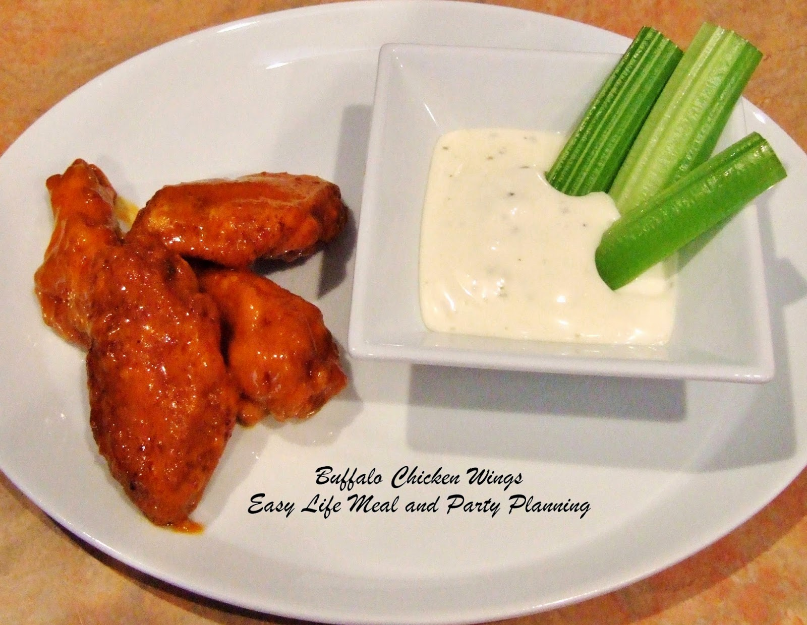 Buffalo Chicken Wings by Easy Life Meal and Party Planning  The best Buffalo Chicken Wing recipe out there. Easy to follow recipe. Tongue tantalizing taste.