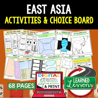 East Asia Geography Activities, World Geography Graphic Organizers, World Geography Digital Interactive Notebook, World Geography Summer School, World Geography Google Activities
