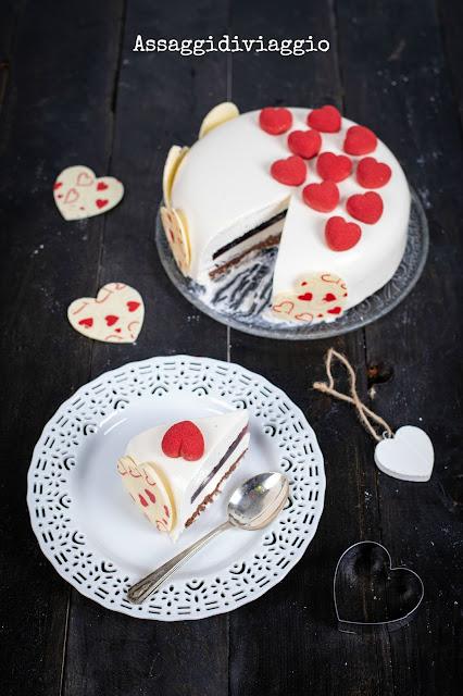 Torta cento cuori San Valentino