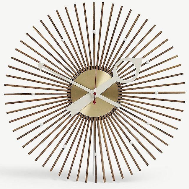 a1957 George Nelson starburst clock