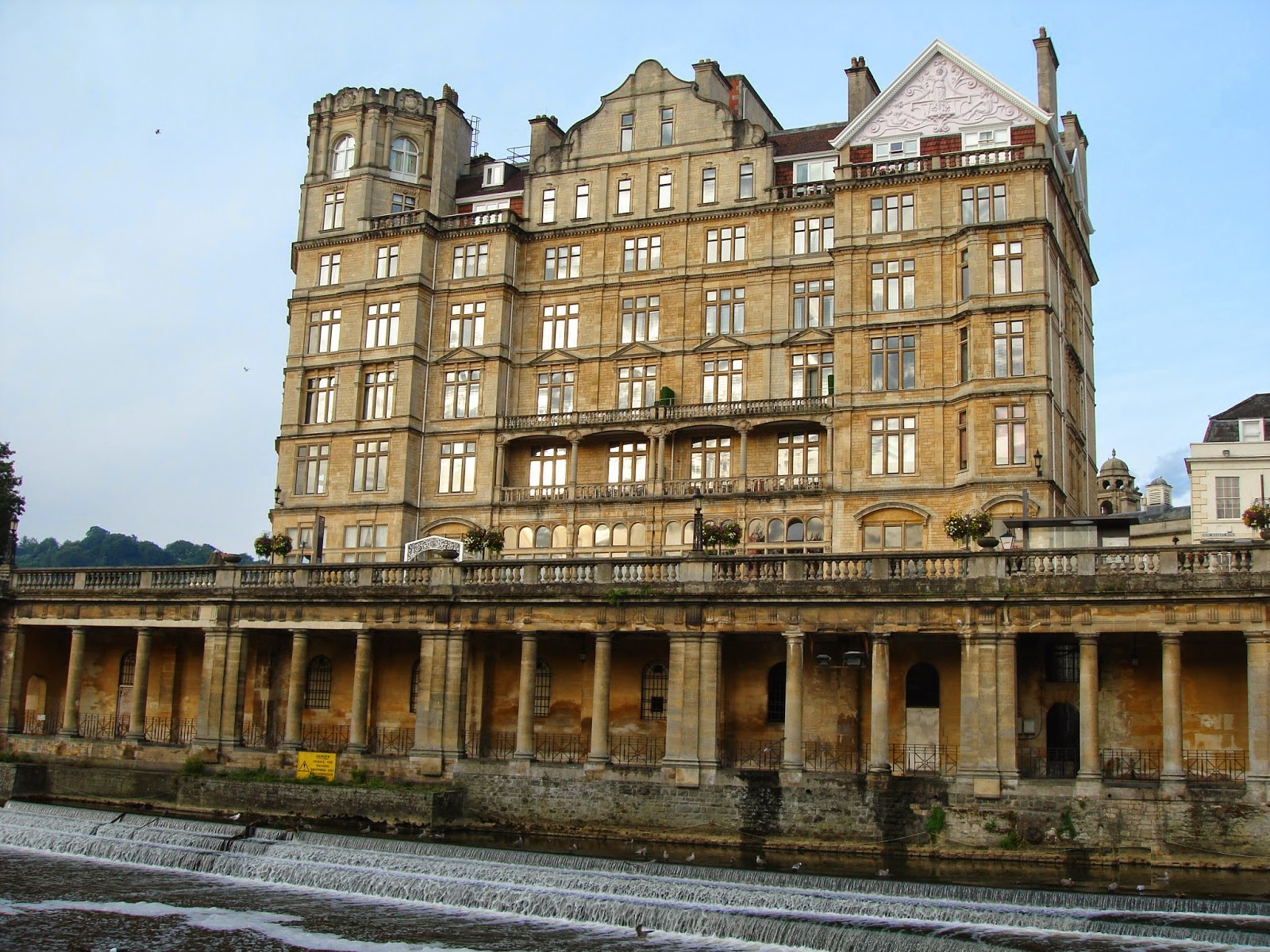 Empire Hotel, Pulteney weir, Bath, England