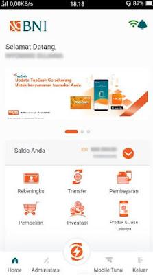 cara daftar & aktivasi bni mobile banking - fitur aplikasi