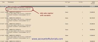 tally sales register