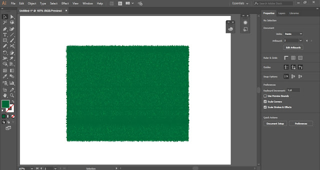 Grass Texture in Adobe Illustrator