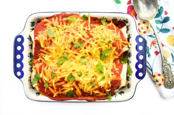 Vegan Sweet Potato & Spinach Enchiladas