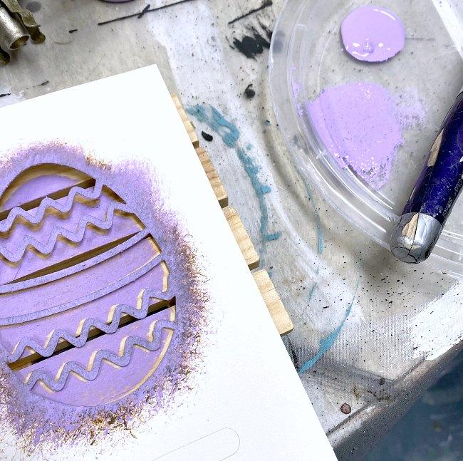 Lavendar Easter egg stencil