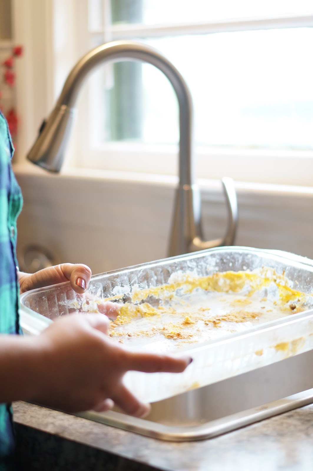 Rebecca Lately Breakfast Casserole Cleaning Up With Scotch-Brite® Scrubbing Dish Clothes