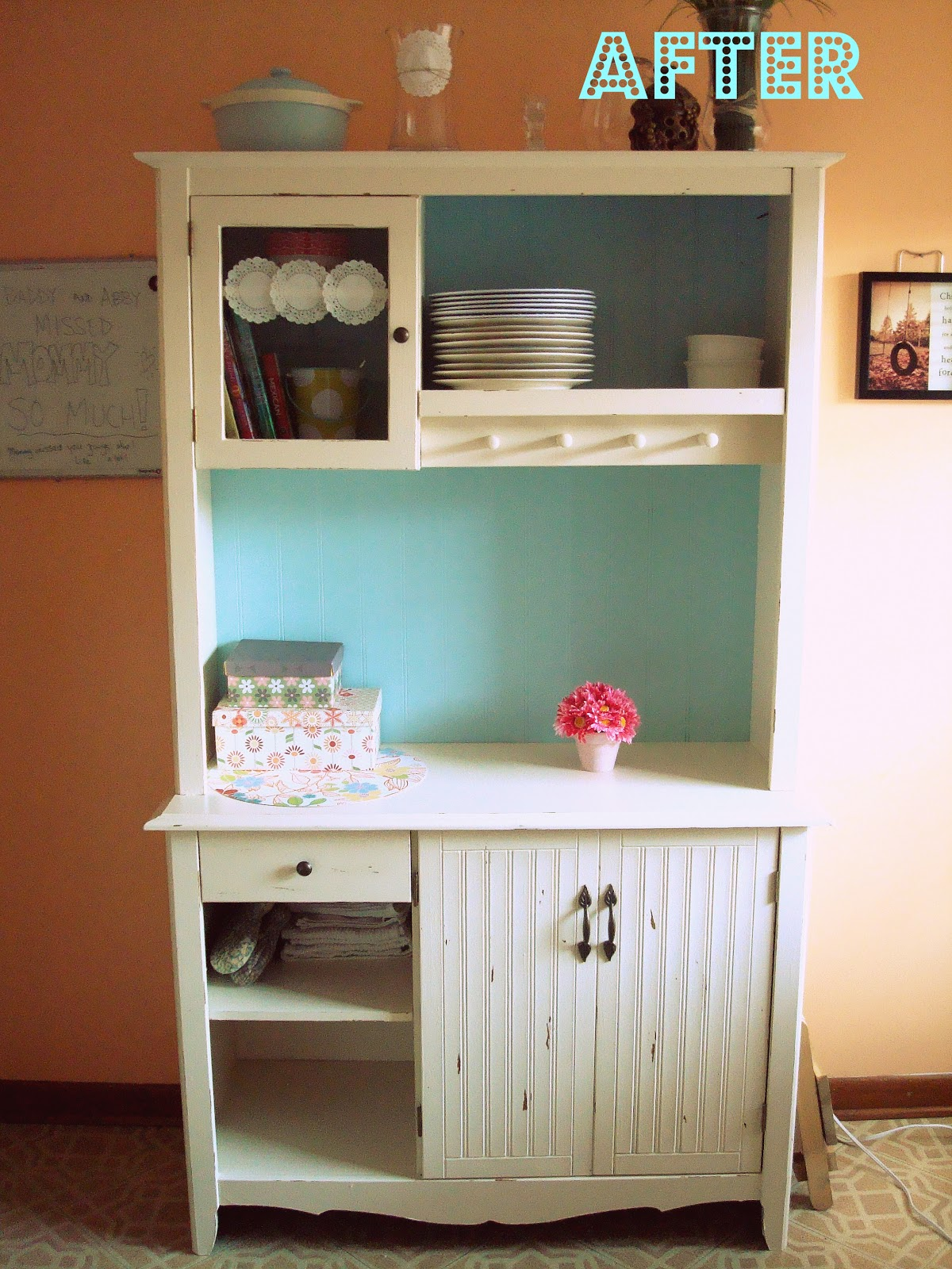 hip2thrift: Thrift Store Kitchen Hutch redo - tutorial