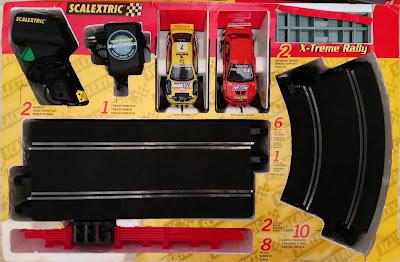 Contenido de la caja del Scalextric X-Treme Rally Tecnitoys