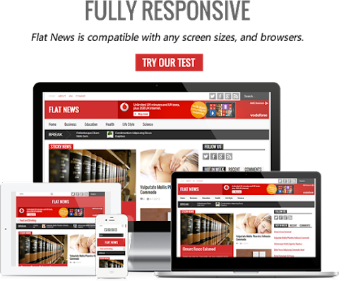 FlatNews - Responsive Magazine Blogger Template FREE download | flatnews blogger theme download