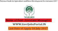 National Bank for Agriculture and Rural Development Recruitment 2017– 91 Assistant Managers