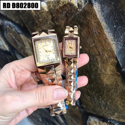 Đồng hồ cặp đôi Rado mặt vuông RD Đ802800