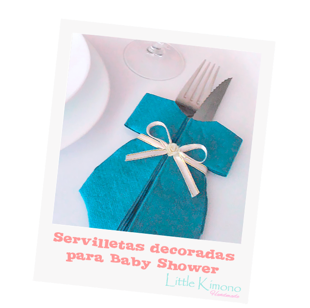 Servilletas decoradas para Baby Shower