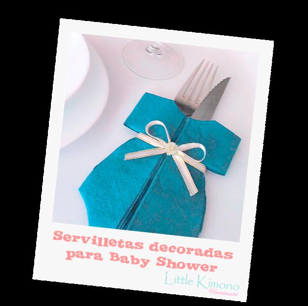 Servilletas decoradas para Baby Shower