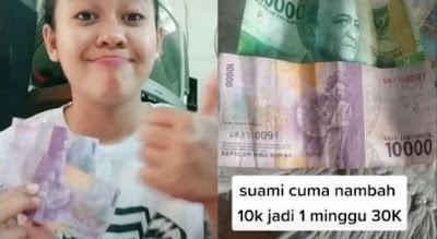 Viral Istri Tetap Bersyukur Meski Uang Belanja Cuma Rp 30 Ribu Seminggu
