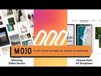 Mojo, de las mejores apps para crear stories para Instagram y Facebook