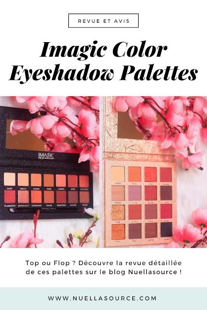 Revue avis imagic 14 16 color eyeshadow palettes nuellasource