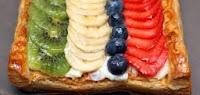 Banda de fruta y hojaldre