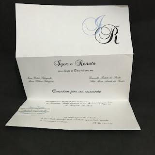 Convite de Casamento Mod. 0205