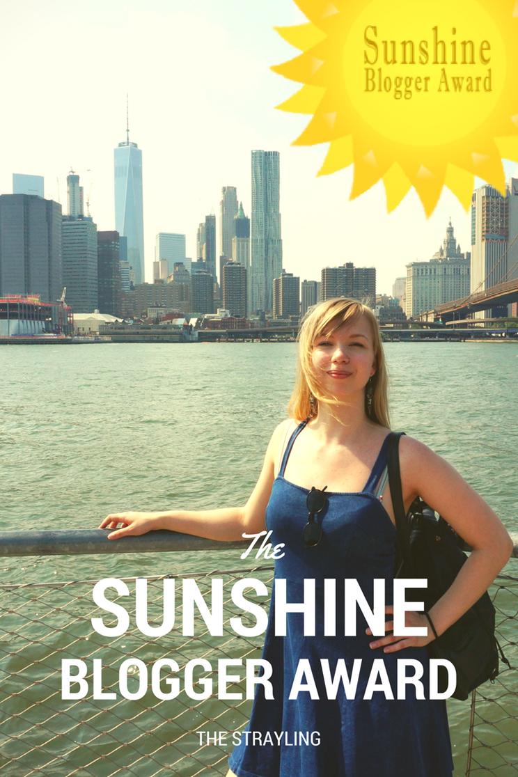 The Sunshine Blogger Award - The Strayling