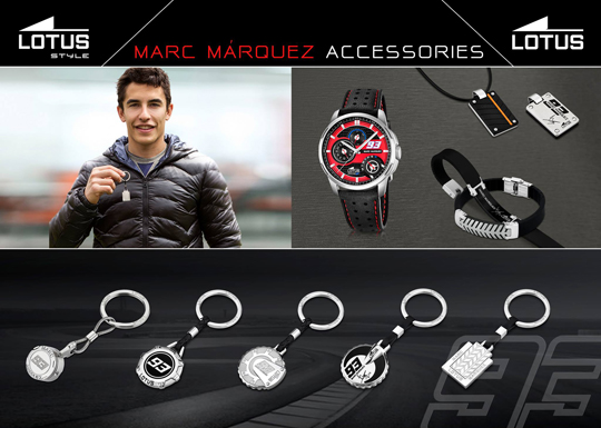 a5fbf7ee18cc Colección de joyas y llaveros de Lotus Marc Márquez