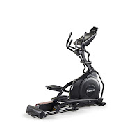 "Sole E25 Elliptical Trainer Machine (2019 model) with 20 lb flywheel, 20"" stride length, power adjustable incline"