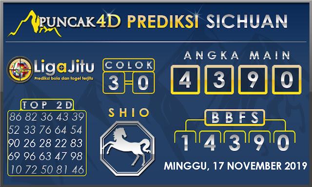 PREDIKSI TOGEL SICHUAN PUNCAK4D 17 NOVEMBER 2019